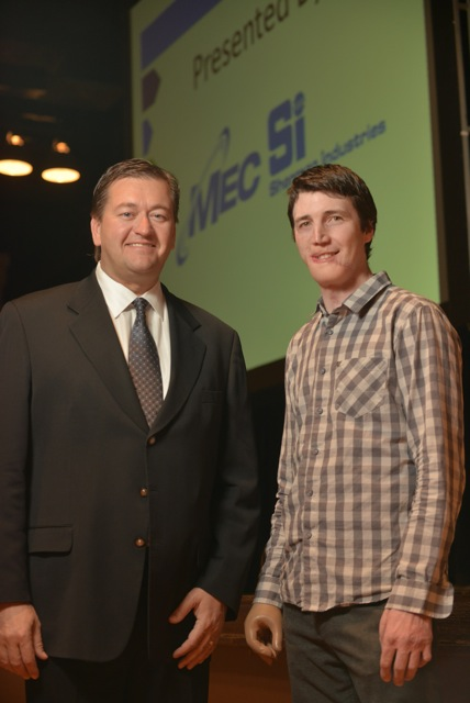 MEC CEO Kerry Heid (left) with SES keynote speaker Curtis Weber