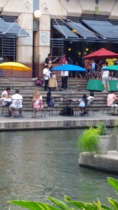Shops, restaurants, nature, and entertainment can found along the Riverwalk.