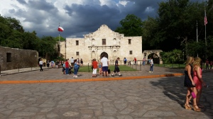 The famous Alamo. Tours are free to walk through Texas history.