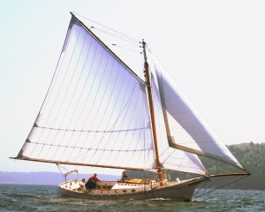 The Surprise, one of Downeast Sailing Adventures' sloop boats.