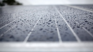 New research contends that innovative solar panel designs could contain a function that converts raindrops to energy in the future.