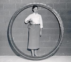 "Kaydon has made bearings ranging from 2"" to 10' diameter for decades.—Kaydon Bearings photo"
