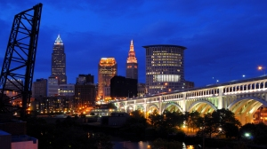 A view of the Cleveland skyline. The city will host the Republican National Convention in July.