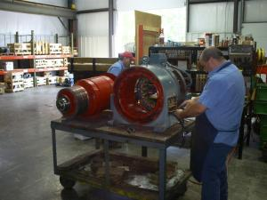 A view from the shop floor at Hammond Electric Motors in Ablemarle, N.C.—Hammond Electric photo