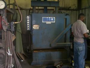 A parts washer at Hammond. The shop has a number of machinery tailored for customization purposes.—Hammond Electric photo