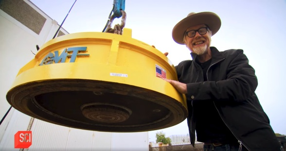Adam Savage with CMT magnet